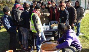 Spendenaktion für Flüchtlinge auf der Balkanroute 1
